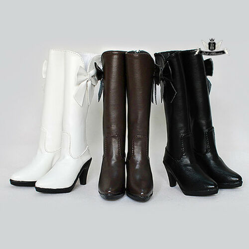 1//3 BJD Shoes Dollfie MID bow High heels Shoes Boots AOD DOD SOOM luts DZ #White