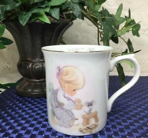 Precious-Moments-Tea-Cup-Coffee-Mug-Blessed-Are-the-Merciful-1985