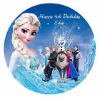 Disney Frozen Personalised Edible Wafer Paper Party Cake Decoration Topper Image