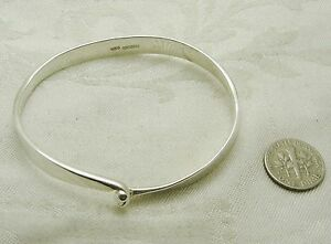 Image Is Loading Sterling Silver Locking Bangle Bracelet 393 K