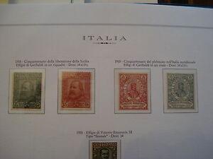 REGNO-1910-ALTI-VALORI-GARIBALDI-SASSONE-89-E-90-SERIE-COMPLETA