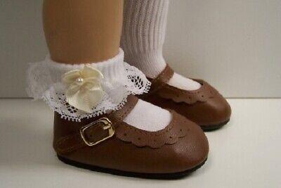 "Doll Shoes My Twinn 20/"" 85mm CREAM Heart Cut Buckle for Chatty Cathy"