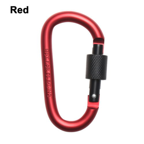 Multi-color D Carabiner Spring Snap Clips Camping Keyring D-Ring Key Chain