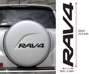 Auto Adesivi Riflettenti Rav4 Gomma di Ricambio Adesivi Adesivi Posteriore Pneumatici Pezzi di Pneumatico della Copertura Decalcomanie Color Name : Black