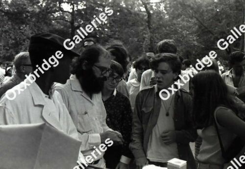 ALLEN GINSBERG Beatnik Poet Photo Negative WASHINGTON SQUARE PARK NY 1966 NYU