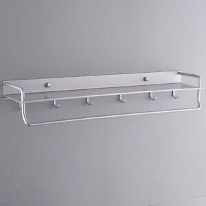 Blesiya Single-Bar Towel Holder Bathroom Storage Rack Rail Towel Hanger 60cm