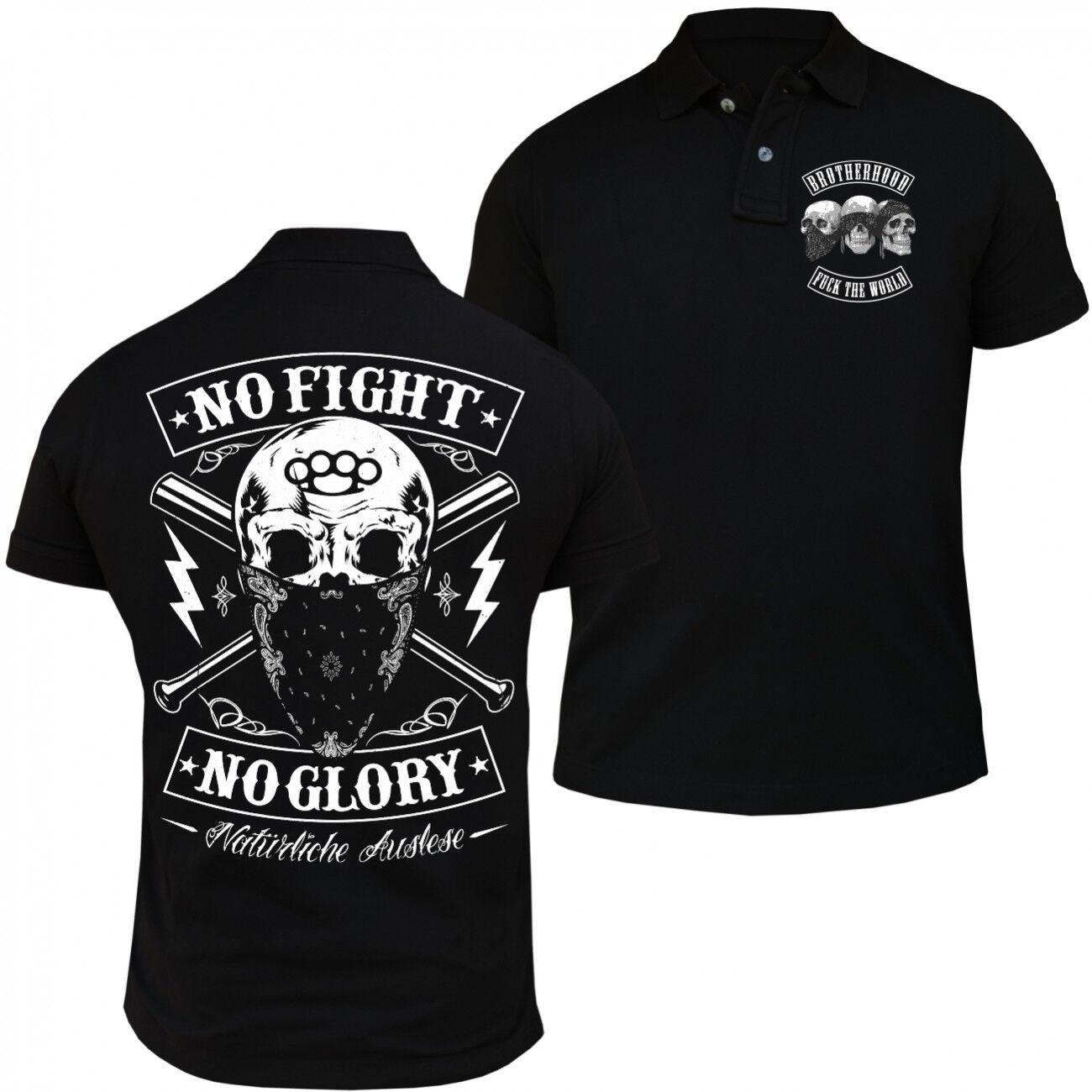 Poloshirt Natürliche Auslese Label No Fight Glory Schlagring Hardcore Label Oi  | Deutschland Berlin  | Neu  | Die Qualität Und Die Verbraucher Zunächst