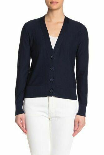 Crew Women Cotton Cardigan Sweater V Neck Navy White Black S M L XL NWT NEW J