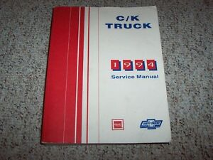 1994 chevy silverado c1500 k1500 shop service repair manual cheyenne rh ebay com 1997 Chevy C1500 Silverado Chevrolet C1500