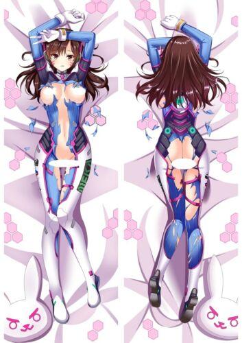 "Overwatch Nude DVA OW D.VA Dakimakura Anime Body Pillow Cover Case 150x50 59/"""