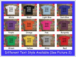 Personalised Childrens Kids T Shirt Custom Printed Birthday Christmas Tee Top