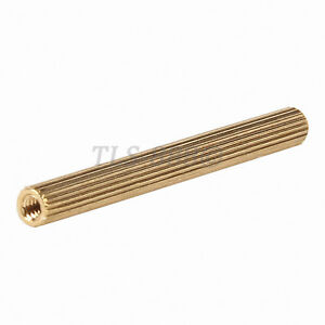 M2x30mm Cylinder Shaped Female Threaded Brass Standoff Spacer 50Pcs