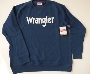 Wrangler-Sweatshirt-Crew-Neck-Men-039-s-Size-S-3XL