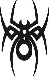 Tribal Spider Sticker Car Bike Wall Window Choice Of