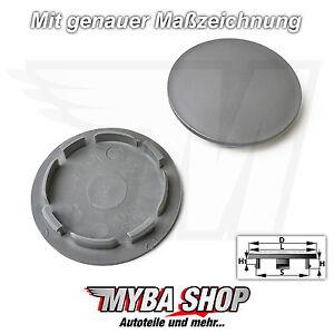 2x-Cubierta-de-Llanta-63-54mm-en-Color-Gris-para-Audi-Seat-Skoda-VW-Llantas