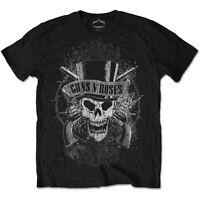 Official GUNS N ROSES Faded Skull T-shirt Black Size S to XXL Axl Rose Appetite