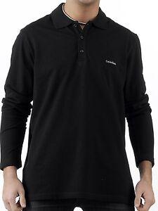Polo-Calvin-Klein-uomo-Men-Ck-maglia-manica-lunga-T-shirt-100-New-sotto-giacca