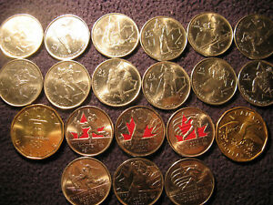 Complete-Set-Of-20-Coins-Canada-Vancouver-2010-Olympics