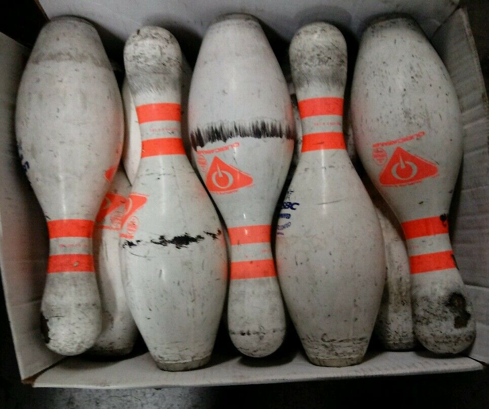Amf bowling pins lot of 10 used