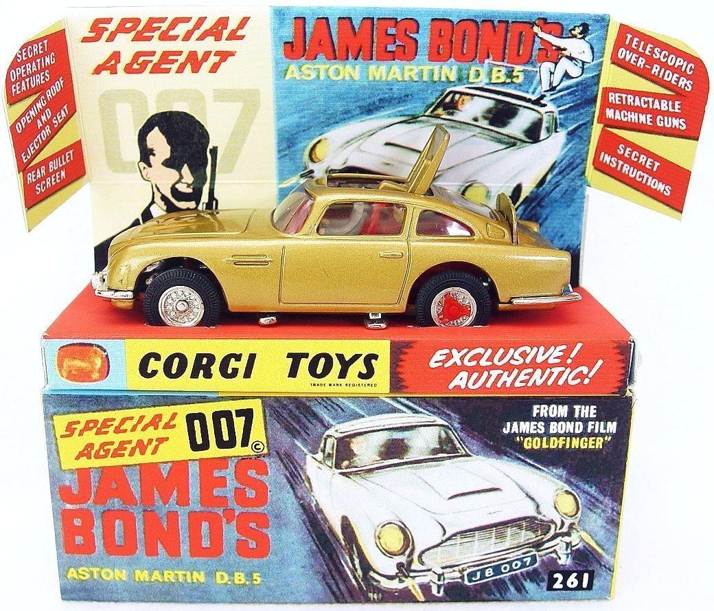 Juguete Koji James Bond 007 Aston Martin 1997 db.5, copia de la Caja MIB 1965 ¡Juguete Koji James Bond 007 Aston Martin 1997 db.5, copia de la Caja MIB 1965