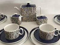 seltenes Rosenthal Kaffee-/Teeservice 6 Personen Carree Stardust 60er Design +++