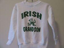 Boys 4T Irish Grandson Sweatshirt Notre Dame Kids Leprechaun Shirt Outerwear Top