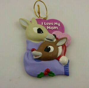Rudolph the red nosed reindeer Christmas ornament Kurt S. Adler xmas  I love mom