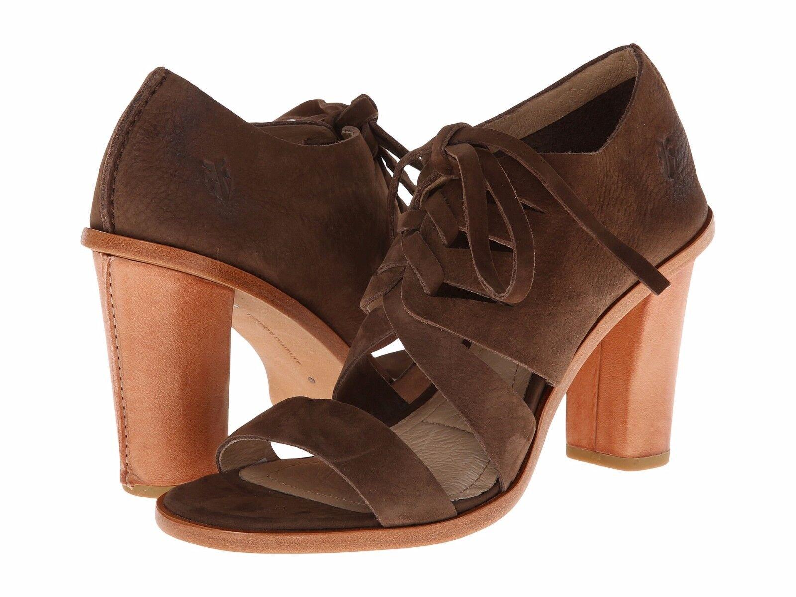 New Frye Sofia Tie On dark brown women's shoes size 8