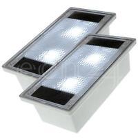 Solar Led Pflastersteine 10x20cm Set Mit Weisser Led