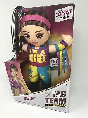 "Set of 3 WWE Tag Team Buddies 14/"" Plush Dolls Becky, Bayley /& Sasha"
