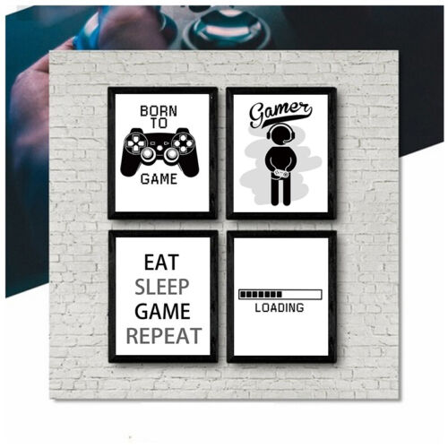 Canvas Print Boys Game Poster Gamer Quotes Home Wall Art picture Kids Room Decor