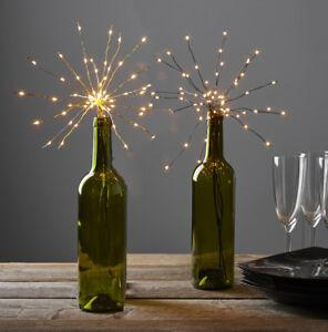 LED-Flaschenbeleuchtung-Firework-Stick-schwarz-gold-Korken-Timer-Batteriebetrieb