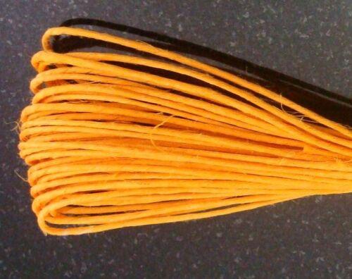 3 Rolls hemp beading cord 90/' yellow .5-1mm create necklaces lace 27 metrs m108b