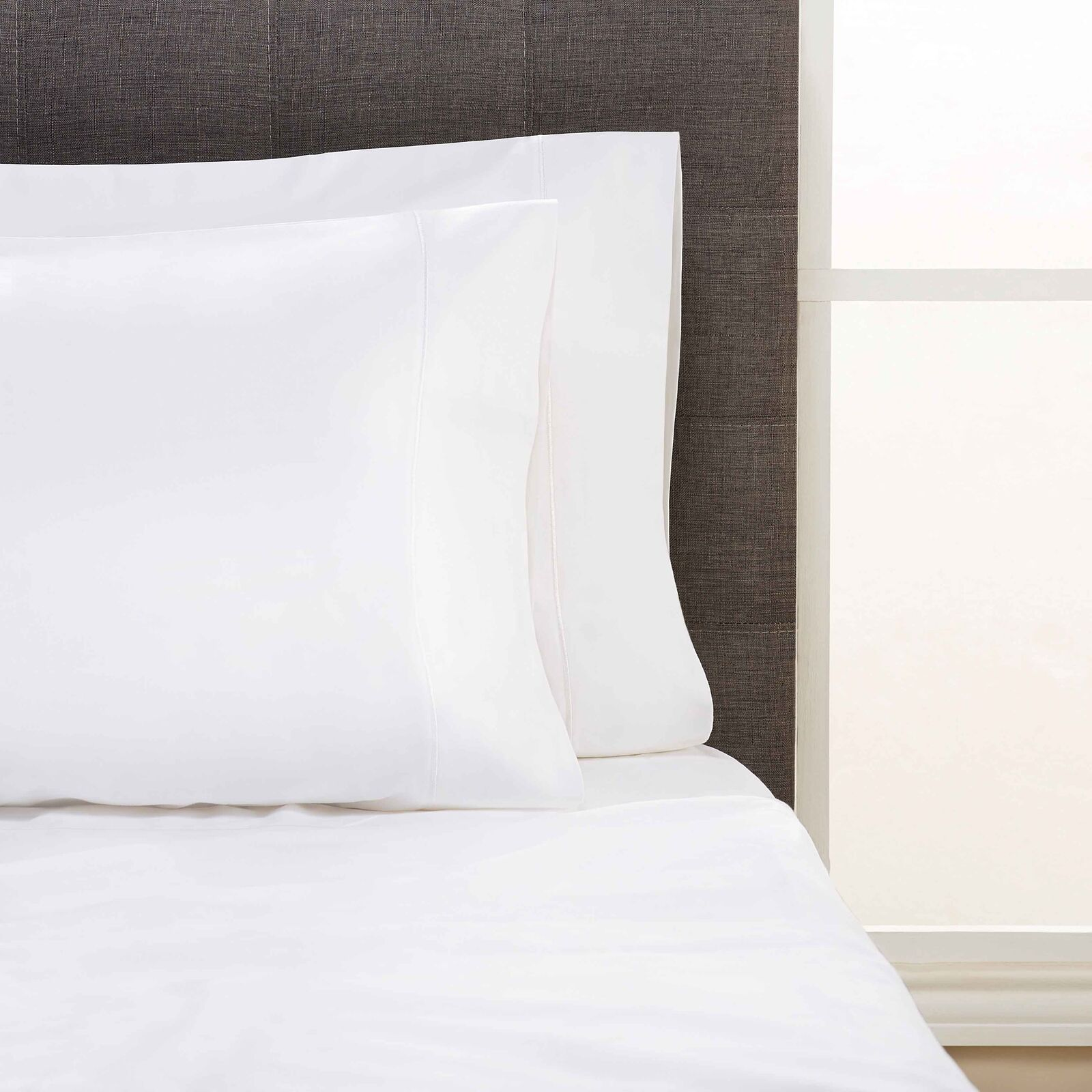 Egyptian Pillow Cases Cotton Bedding Smooth Lightweight Comfortable Soft Classic