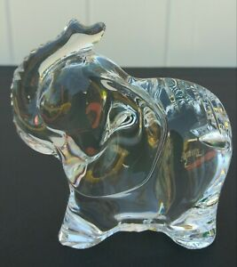 Signed-Tipperary-Irish-Hand-Cut-Crystal-Elephant-Figure-NEW-WITHOUT-TAGS