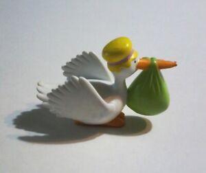 Smurfs 40248 Stork /& Baby Smurf Bird Nest Rare Vintage Figure PVC Toy Figurine