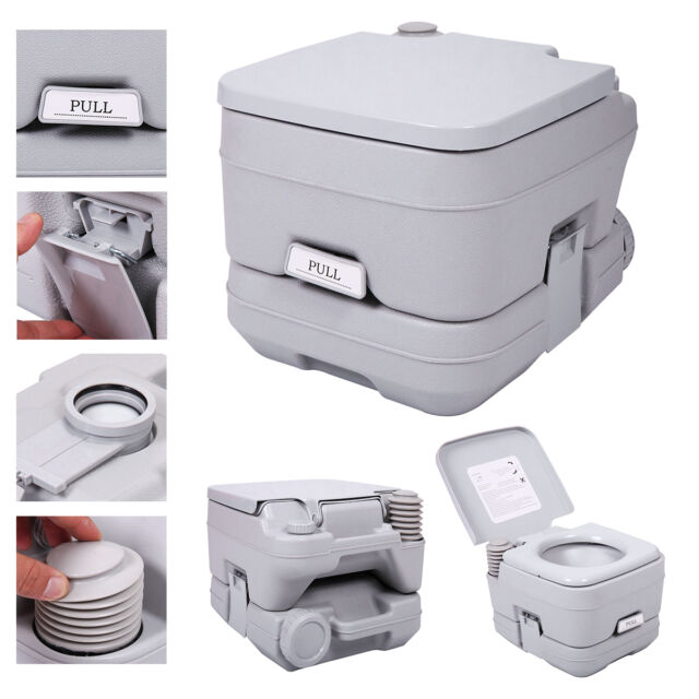 2.8 Gallon 10l Portable Toilet Travel Camping Outdoor/indoor Commode ...