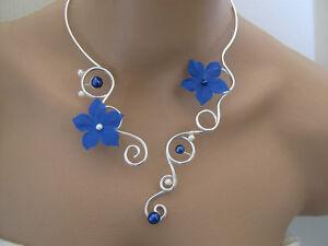 Détails Electriqueargenté Robe Cher Perle Pas Collier Bleu Mariéemariagesoirée Sur Fleur FlKJc13Tu