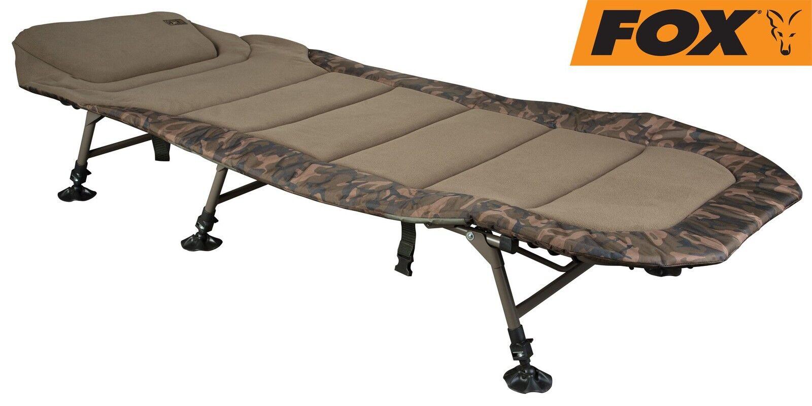 Fox Royale Camo Bedchair XL 223x101cm Karpfenliege, Angelliege Angelliege Angelliege zum Nachtangeln 738778
