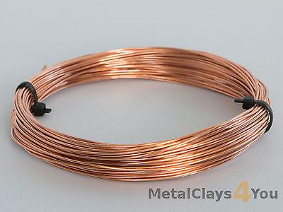 Unplated Copper Round Wire 0.4mm to 5.0mm Jewelry Making / Wire Craft