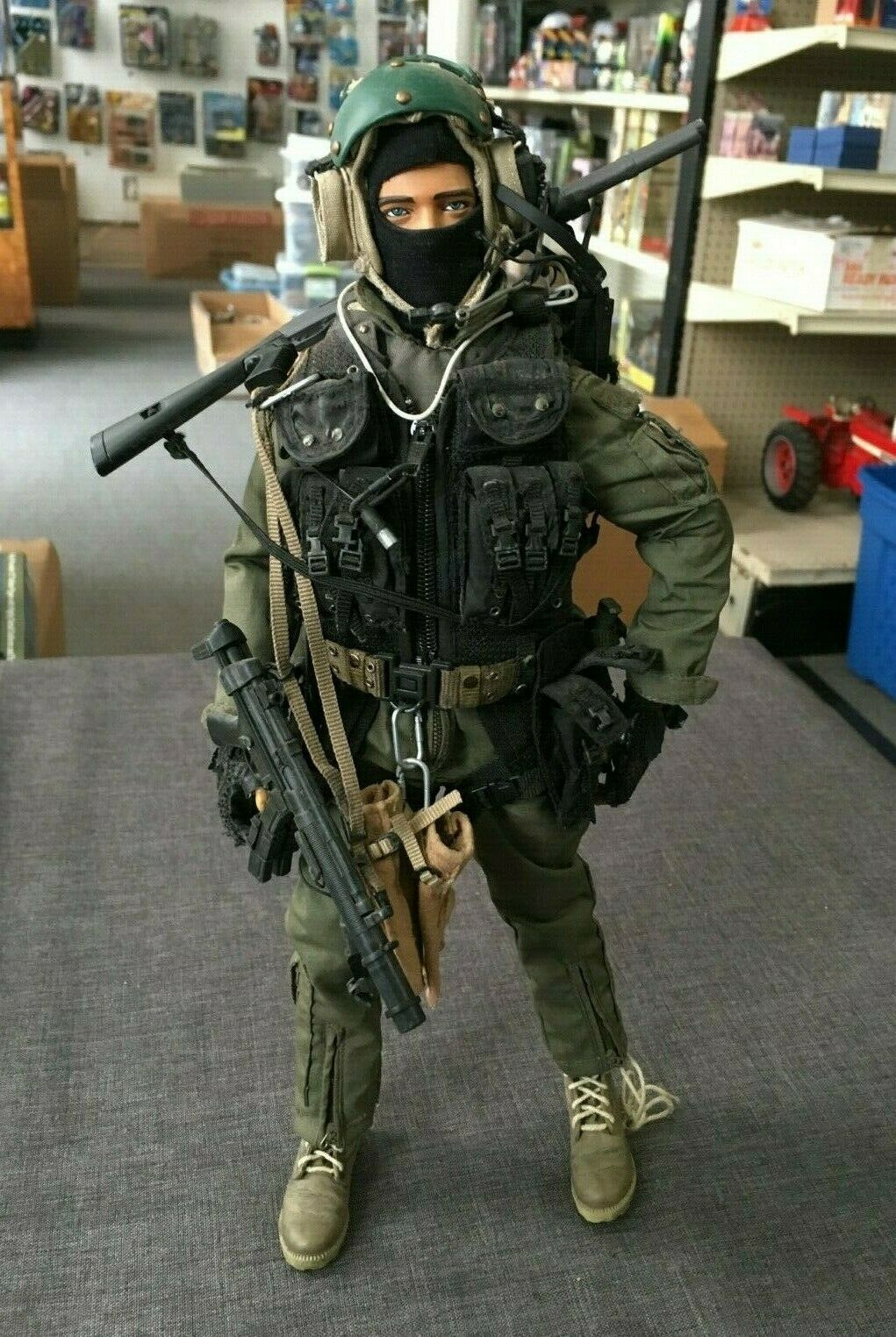 2004 Hot Toys 1 6 Scale 12  Seal Team 5 VBSS Team Leader Action Figure NHL-18