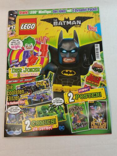 LEGO THE BATMAN MOVIE COMIC 42 SEITEN 2 POSTER OHNE FIGUR JOKER NR.2