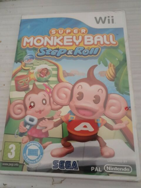 SUPER MONKEY BALL STEP & ROLL  _ WII _ VERS FRANCAISE _ JEU NEUF CELLO BRILLANT
