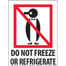 3 X 4 Do Not Freeze Or Refrigerate Labels Redwhite 500roll