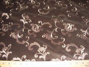 4 Yds Velvet Floral Embroidered Velvet Upholstery Fabric For Less