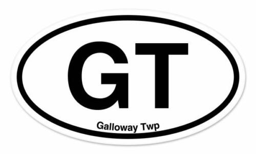 "GT Galloway Twp Oval car window bumper sticker decal 5/"" x 3/"""