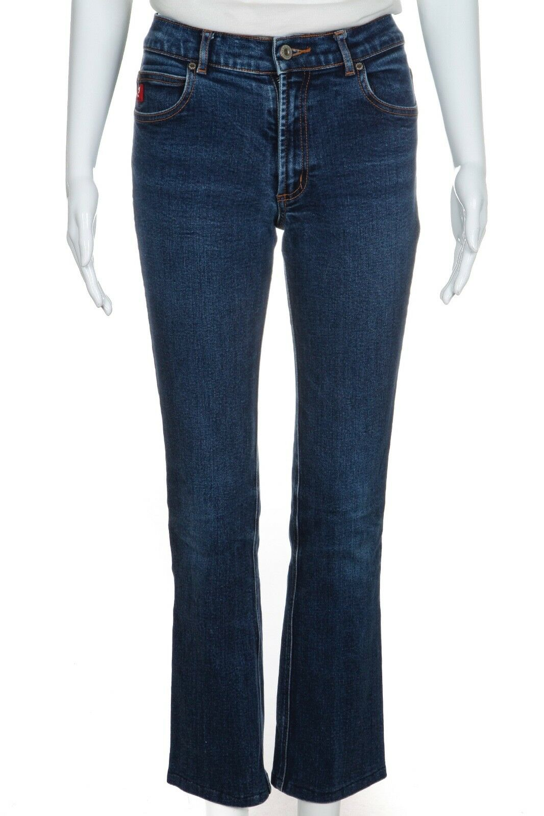 GUESS Women's Stretch Boot Cut 26 Jeans Medium Wash bluee Retro 90s Vintage