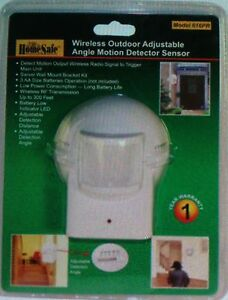 Image Is Loading Wireless HomeSafe Security OUTDOOR Motion Detector Sensor  FOR