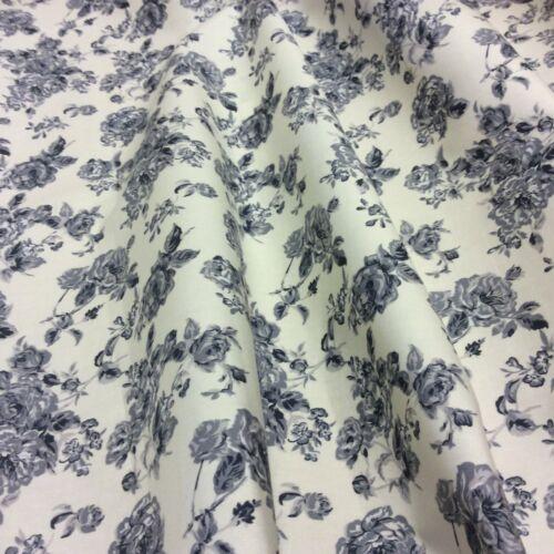 Floral 231 Cotton Poplin Fabric Material