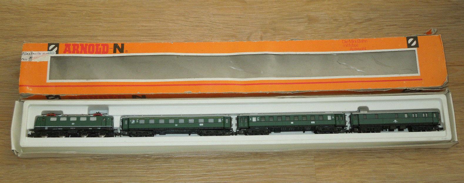 Arnold Spur N 0134 Personenzug 4 teilig mit E-Lok - Trier